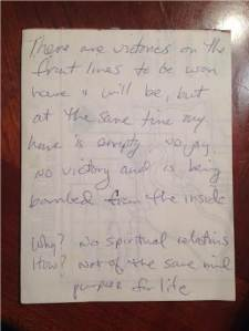 Marriage notes 1985