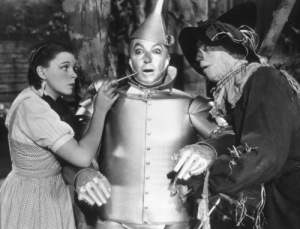 Judy Garland, Jack Haley, Ray Bolger Film Set Wizard Of Oz, The (1939) 0032138